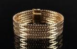 Geneve/ Sildebens armbånd, 14 kt guld, 46 gram
