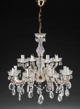 Tolvarmet lysekrone, Maria Theresia stil, 1900-tallets sidste halvdel