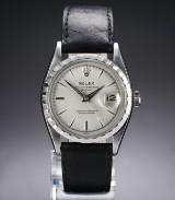 Rolex 'Datejust'. Vintage herreur i stål med sølvfarvet skive, ca. 1959