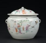 Kinesisk lågkrukke af porcelæn, 1900-tallets begyndelse