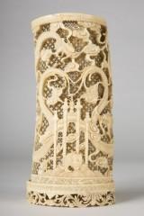 Vase / decorative vase, ivory, China, Guangzhou, second half of the nineteenth century