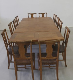 Dining Room Set Oak Late Art Nouveau Myrstedt Stern 13