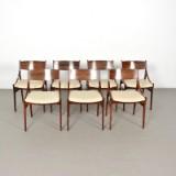 Vestervig Eriksen, Set Stühle der 1960er Jahre für Brdr. Tromborg (7)