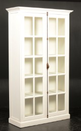 Display / kitchen cabinet, French country style, white antique paint finish