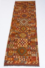 Teppich, Design Kelim Kaudani ca 297 x 80 cm