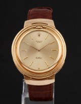 Rolex 'Cellini'. Men's watch in 18 kt. gold with champagne-coloured dial, 1990s