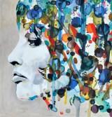 Porträtt, olja på duk, Dotted Mind