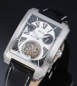 Soyuz 'Great Eagle Tourbillon'. Men's watch in steel with original strap and buckle, 2010s