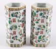 Et par sekssidede kinesiske hatstands af porcelæn (2)
