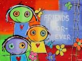 Saline. 'Friends Forever', akryl på lærred