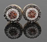 Diamond earrings in14kt.approx. 0.50ct.(2)