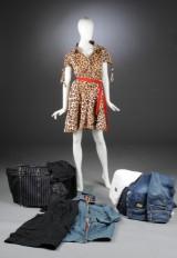 Samling modetøj, bla. Moschino, Marc Jacobs mfl. Ca. str.  36-40