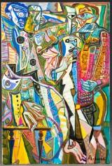 Aleksandr Alkhovsky, Drei Engel, Vögel und ein Kind