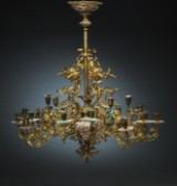 A large French chandelier, gilt bronze