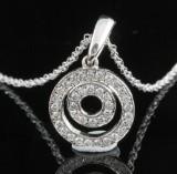 18kt diamond pendant necklace approx. 0.20ct
