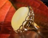 Bernsteinring / Ring aus 585 er Gold, 6,23g