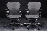 Donald Chadwick & William Stump. A pair of multi-adjustable office chairs, model Aeron Executive 'Refurbished' (2)