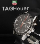Tag Heuer 'Carrera Fangio' Limited men's chronograph, steel, date