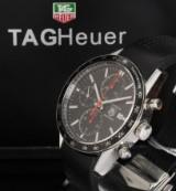 Tag Heuer 'Carrera Fangio'. Limiteret herrechronograf i stål med dato