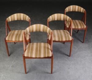 Kai Kristiansen, fire stole af teaktræ |