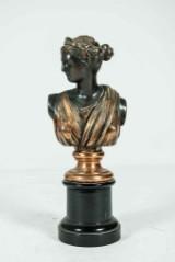 Okänd konstnär, skulptur i metall, kvinnobust