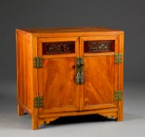 Oriental cabinet with carvings, 20th century