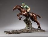 E. Thomasson. Jockey, skulptur af bemalet gips