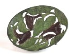 Früchteschale aus Bronze im Stil des Art Nouveau