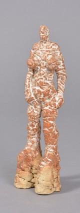 Jeff Ibbo, stentøj, skulptur, stående kvinde