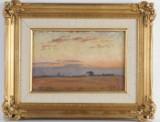 Ludvig Find, oljemålning, skymningslandskap