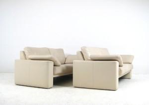 paarklassische lounge sofas in leder von wk wohnen 2. Black Bedroom Furniture Sets. Home Design Ideas