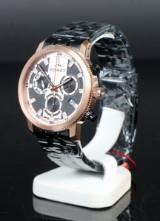 Bisset Of Switzerland, Gold/Black. Swiss made Herre Chronograph.