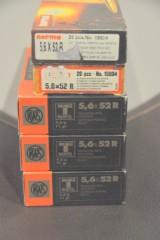 RWS og Norma kaliber 5,6x52R, 100 stk riffelpatroner