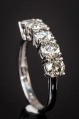 14 kt. gold ring, brilliant-cut diamonds, 2.27 ct.