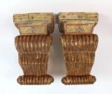 Paar Wandkonsolen aus thailändischem Tempel (2)