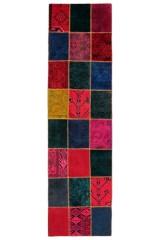 Persisk Patchwork løber, 300 x 82 cm.