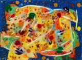 Walter Linis,figurkomposition, olie på lærred, 'Dyrehoved'