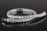 Diamond bracelet, 18 kt. white gold, total approx. 7.56 ct.