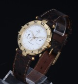 Omega Constellation. Men's watch, 18 kt. gold with date, 1990s