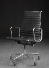 Charles Eames. Office chair, model EA-119, back leather