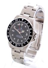 Rolex GMT Master II. Men's watch, steel with black dial