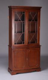 Engelsk vitrine af mahogny