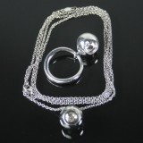 Georg Jensen ring + necklace with pendant, model Cave (3)