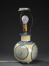 Kähler. Bordlampe af lertøj med kohonsglasur