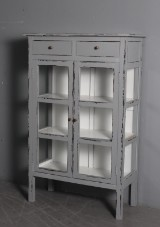Sideboard, grey antique painted wood