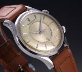 Jaeger-LeCoultre 'Memovox'. Vintage men's watch. steel with alarm function, c. 1950s