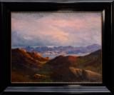 Emauel A. Petersen. Landskabsparti fra Disko