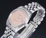 Rolex 'Datejust'. Midsize dameur i stål med rosafarvet skive, ca. 1991