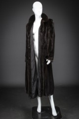 Mink coat, Scanblack, size 38/40. Labelled Brdr. Alex Petersen