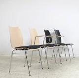 Set Schichtholz Stühle / Stapelstühle Modell Fox von Brunner (4)